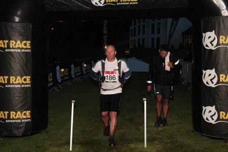 Steve Slinger crosses the finish line