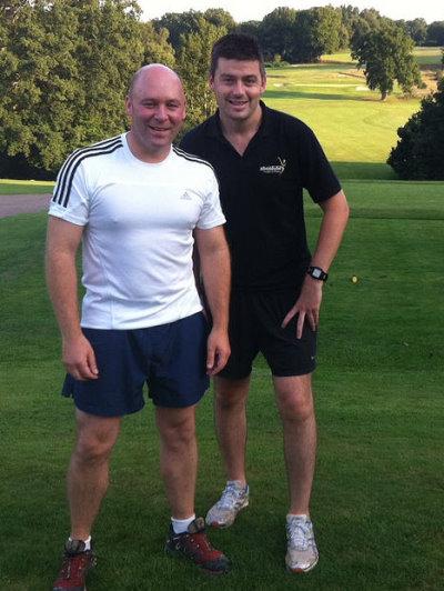 Steve Slinger (left) with personal trainer Stuart Wilkinson