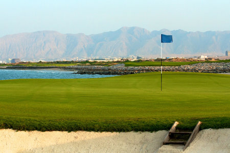 9th hole, Almouj Golf at the Wave, Muscat, Oman.
