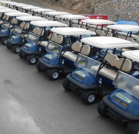 New Club Car fleet at Golf de Andratx, Mallorca