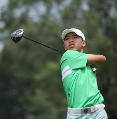 Teenage amateur Chinese golf star Guan Tainlang