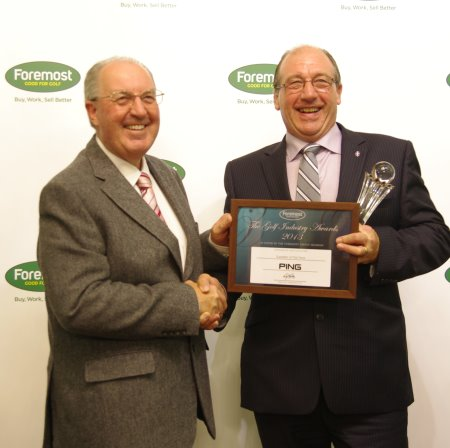 PING Europe Managing Director John Clark (right) receives the award from Foremost CEO Paul Hedges