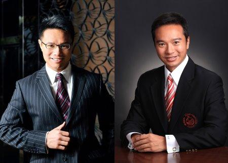 Ken Chu (left) with Tenniel Chu