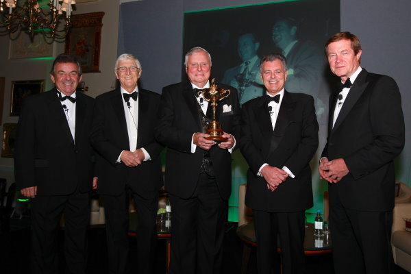 Tony Jacklin, Sir Michael Parkinson, Peter Alliss, Bernard Gallacher and George O'Grady