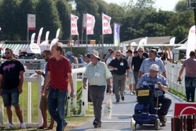 SALTEX 2013 - one of the walkways over the Royal Windsor Racecourse