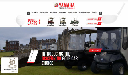 Yamaha's new website