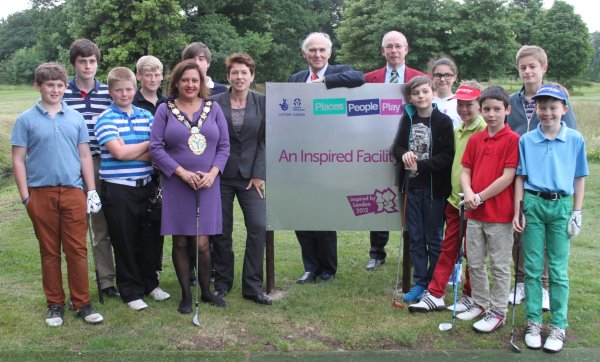 Dr Vince Cable MP and VIPs open Strawberry Hill Golf Club's new practice facilities.