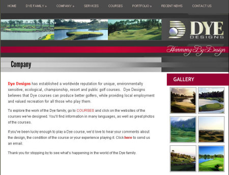 Dye Designs website