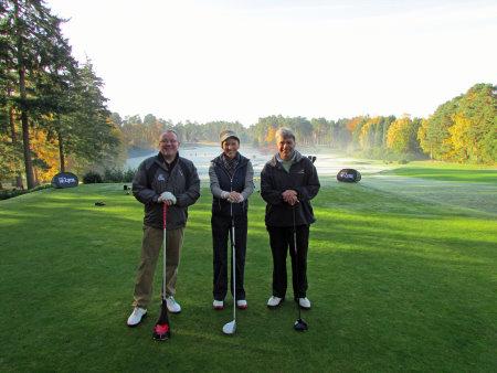 (l-r) Steve Elford (Lynx CEO), Di Dougherty (Lynx ambassador), and Jock Howard from Golf World