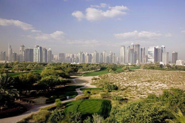 Emirates GC, Majlis Course, 8th tee