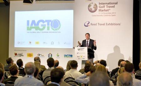 Peter Walton, Chief Executive of IAGTO at IGTM 2013 in Costa Daurada, Catalonia, Spain