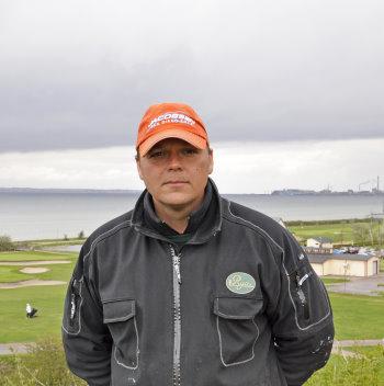 Head greenkeeper Brian Peterson