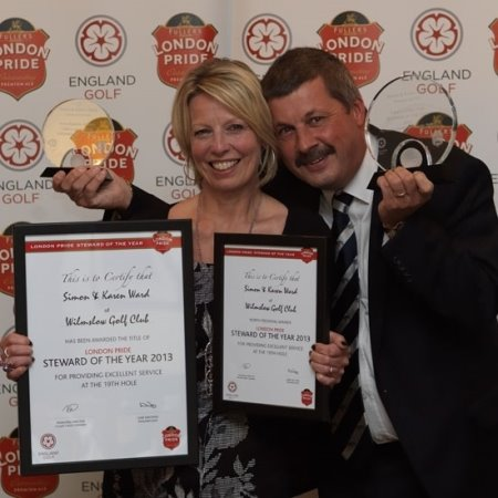 Simon and Karen Ward are pictured at the presentation ceremony (image copyright Gill Shaw)