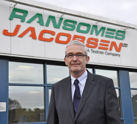 Alan Prickett, who has been appointed Managing Director at Ransomes Jacobsen, the Ipswich-based manufacturer of commercial mowers and turf maintenance equipment