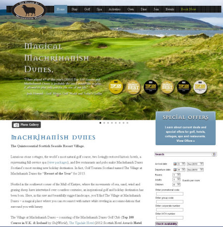 Mach Dunes website