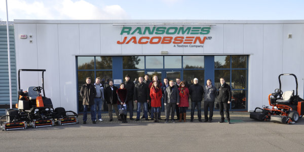 The Russian delegation who visited Ransomes Jacobsen in November