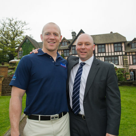 Steve Slinger (right) with England rugby World Cup winner Mike Tindall