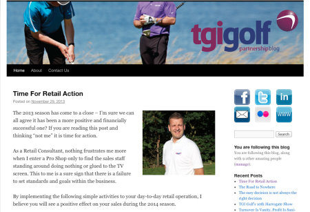 TGI Golf Blog