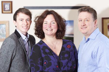 (from left) Ruairidh Macdonald, Yvonne Alexander and Mark Alexander