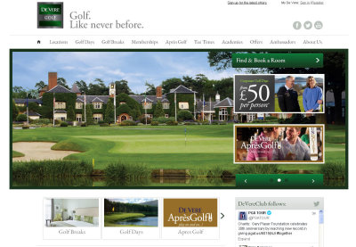 de vere golf website