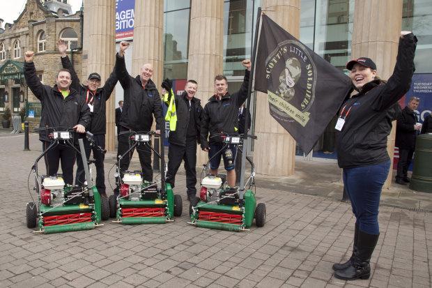 David Steventon, Stuart Johnson, Mark Hillaby, Gordon Irvine MG, Tim Johnson and Amy Steventon arrive at BTME