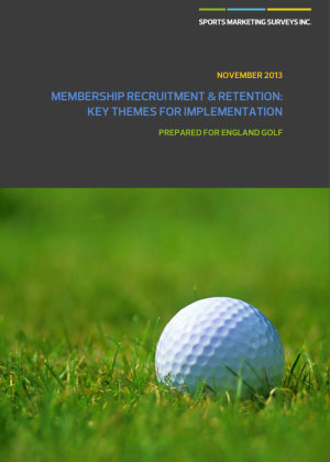 England Golf Membership Recruitment & Retention