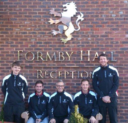From left: David Goscombe, Richie Marsden, Mark Williams, Ryan Gillespie, Ian Finnis