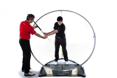 Guiding student through swing