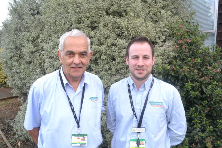John Millen (left) and Anthony Stockwell, turf tutors at Hadlow College