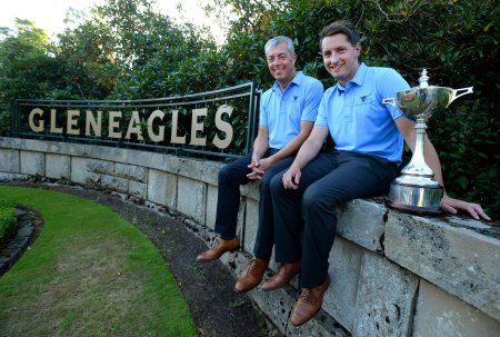 2013 champions: Kedleston Park PGA Professional Ian Walley (right) and amateur Ian Neal (courtesy of Getty Images)