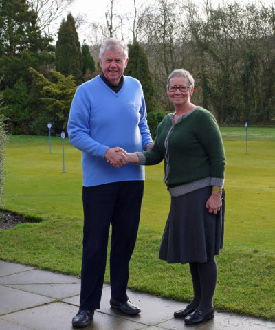 Club chairman Peter Johnson with new general manager Sue McDevitt