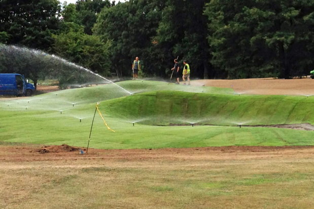 Mist irrigation was installed alongside 12 south-facing fairway and greens bunkers.