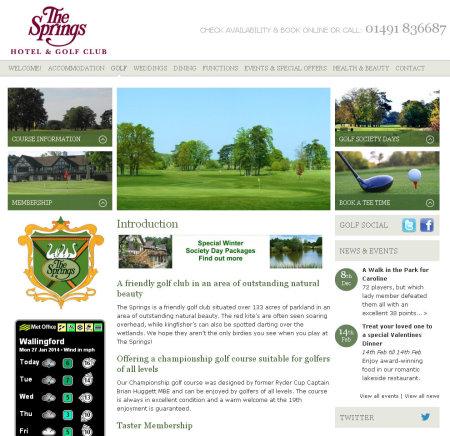 Springs Hotel website