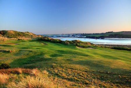 The par 5 16th hole at the St Enodoc Golf Club