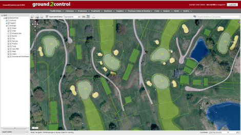 Zoom around your course and measure any area(s) using the Interactive GIS browser shown above