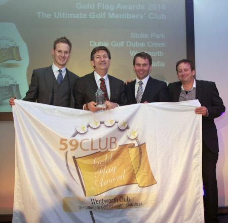 The ultimate golf members club: Wentworth Club  (from left) Dan Walker (host), Julian Small (Wentworth), Robert Maxfield (PGA) and Simon Wordsworth (59Club)