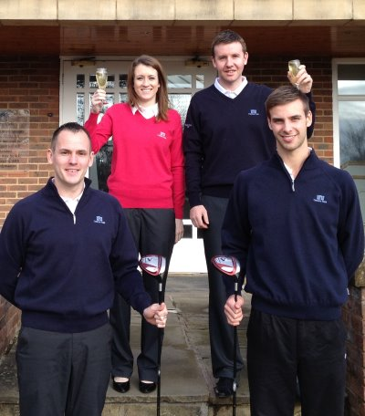 Golf team celebrate awards win at Carden Park Clubhouse