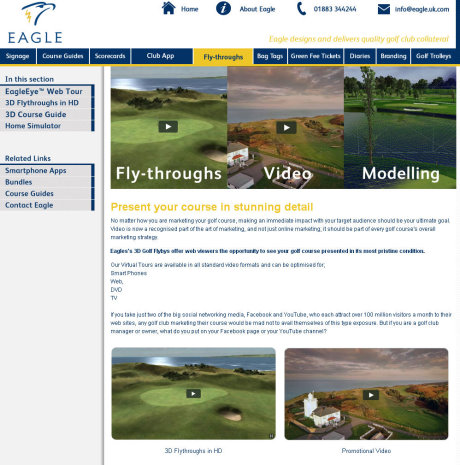Eagle fly throughs_video