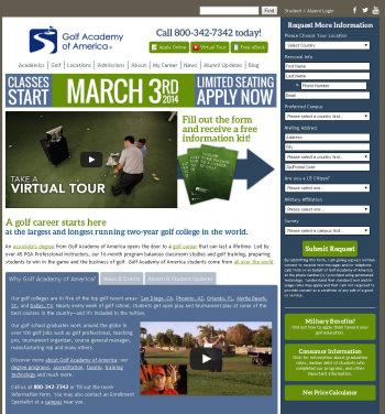 Golf Academy of America website