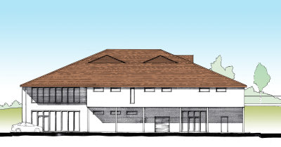 Design of proposed new clubhouse