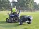 The Turfco Torrent can be hitched to most types of towing units