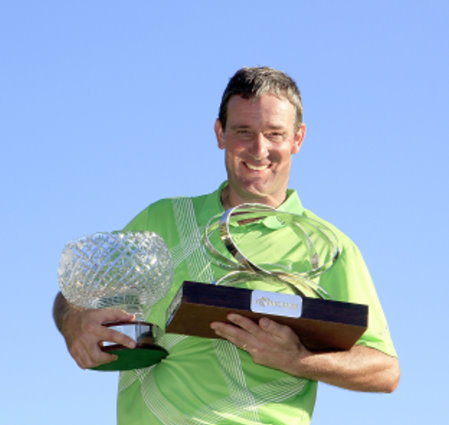Paul Wesselingh and trophies (courtesy Getty Images)