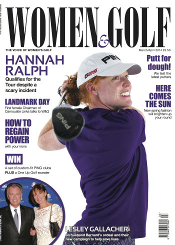 The March/April 2014 issue of Women & Golf, which features Syngenta's groundbreaking research on female participation