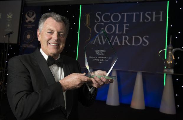 Bernard Gallacher with his Lifetime Achievement award