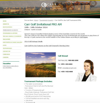 Carr Golf Invitational website