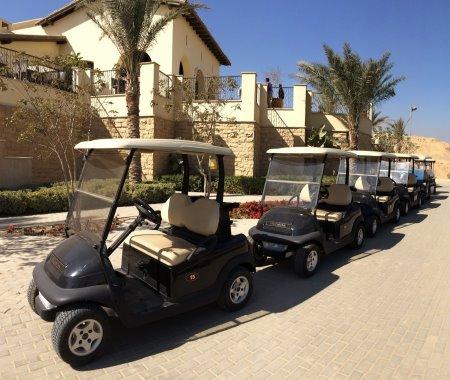The new Club Car fleet at Emaar's Uptown Cairo resort, Egypt