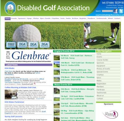 Disabled Golf Association website