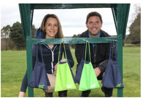 Nicola Morley with Divot Bag Dispenser