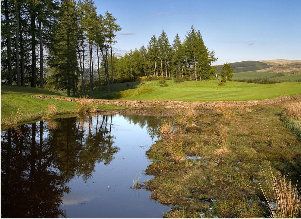 Hole 3 at the PGA Centurion Course, Gleneagles