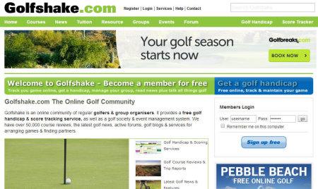 Golf Shake.com Website